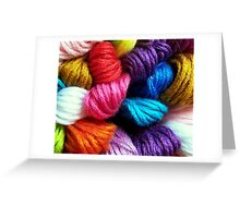 Colors of yarn Greeting Card