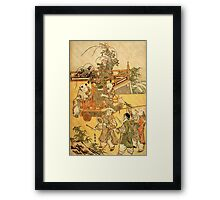 'Chinese Children' by Katsushika Hokusai (Reproduction) Framed Print