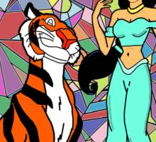 Jasmine And Rajah Sticker