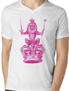Lion Sceptre & Crown Mens V-Neck T-Shirt