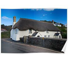 Thatched Cottage: Hope Cove, Devon Poster