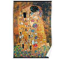 Gustav Klimt - The kiss  Poster