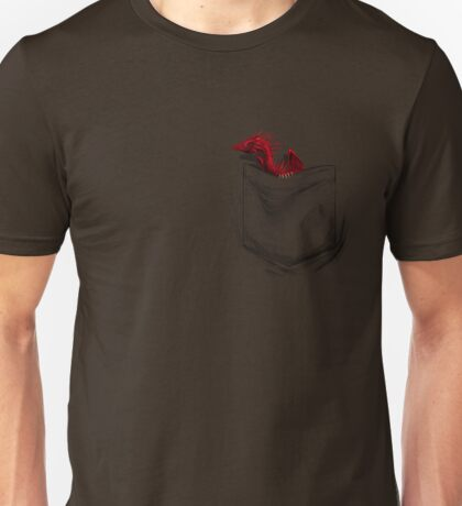 Little Dragon In My Pocket 1 - Red Unisex T-Shirt