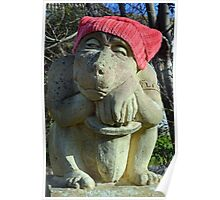 Red Hat statue........ Poster
