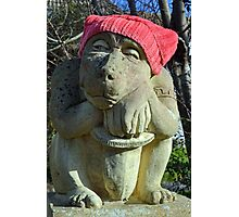 Red Hat statue........ Photographic Print