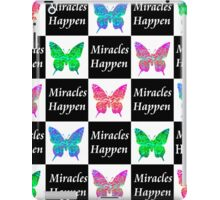 BLACK BUTTERFLY MIRACLES HAPPEN DESIGN iPad Case/Skin