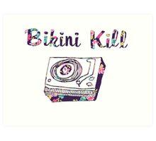 Bikini Kill Purple Floral Riot Grrrl Feminist Design Art Print