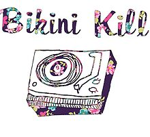Bikini Kill Purple Floral Riot Grrrl Feminist Design by hellosailortees