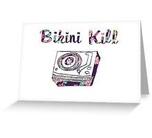 Bikini Kill Purple Floral Riot Grrrl Feminist Design Greeting Card