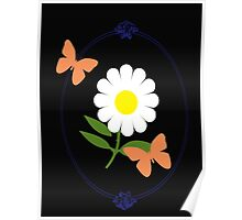Daisy Butterfly Frame Poster