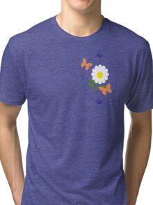 Daisy Butterfly Frame Tri-blend T-Shirt