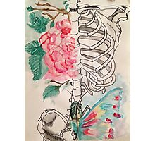 Skeleton sharpie and watercolor Photographic Print