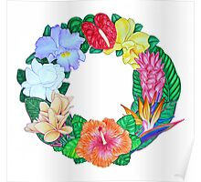 Tropical Wreath Poster