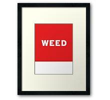 Weed   Lust Brick Framed Print