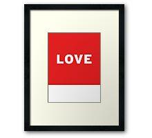 Love   Lust Brick Framed Print