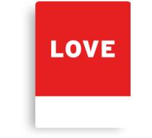 Love | Lust Brick Canvas Print