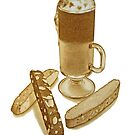 Cafe Mocha and Biscotti by joeyartist