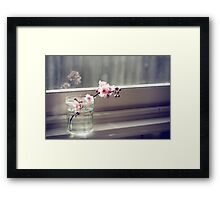 windowsill. first sign of spring. Framed Print