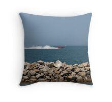 Power Boat Racing Throw Pillow