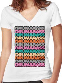 Drum & Bass (fierce) Women's Fitted V-Neck T-Shirt