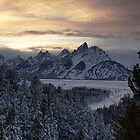 Snake River Overlook - January by Dennis Jones - CameraView
