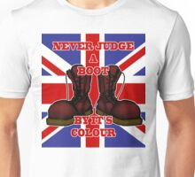 Never Judge a Boot by it's Colour Unisex T-Shirt