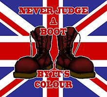 Never Judge a Boot by it's Colour by SquareDog