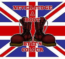 Never Judge a Boot by it's Colour Photographic Print