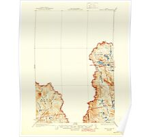 Maine USGS Historical Map Arnold Pond 460113 1935 62500 Poster
