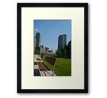 A Boston Bench Framed Print