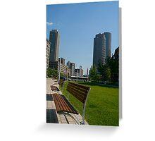 A Boston Bench Greeting Card