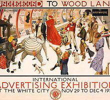 'London Underground' Vintage Poster (Reproduction) by Roz Abellera Art Gallery