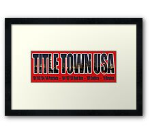 TITLE TOWN USA - New England Patriots, Boston Red Sox, Bruins, Celtics Framed Print