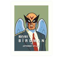 Harvey Birdman Art Print