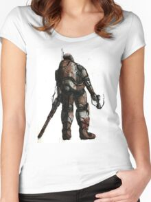 Rusted FIghter Women's Fitted Scoop T-Shirt