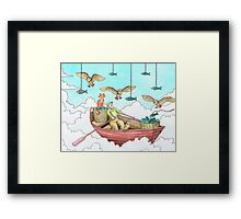 Fish Farmer with owls and a pussycat Framed Print