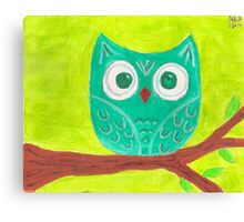 Teal Owl Canvas Print