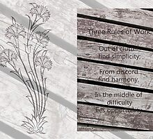 """""""Three Rules Of Work"""" - Quote  by Sandra Foster"""