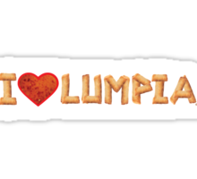 I Love Lumpia (Alternate) Sticker