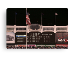Last Score at Yankee Stadium Canvas Print
