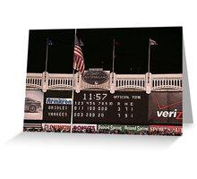 Last Score at Yankee Stadium Greeting Card
