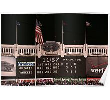 Last Score at Yankee Stadium Poster