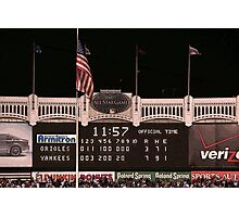 Last Score at Yankee Stadium Photographic Print