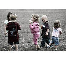 Picking teams. Photographic Print