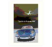 Flying in my 356 Art Print