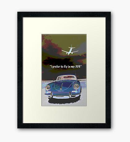 Flying in my 356 Framed Print