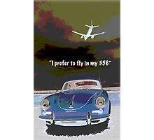 Flying in my 356 Photographic Print