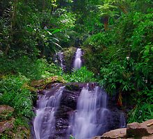 Las Delicias Waterfall 02  by lightboxfactory