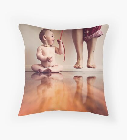 {she has got me wrapped around her little finger} Throw Pillow
