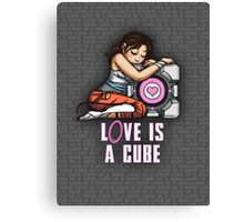 L0VE is a CUBE (Portal 2 ver.) Canvas Print